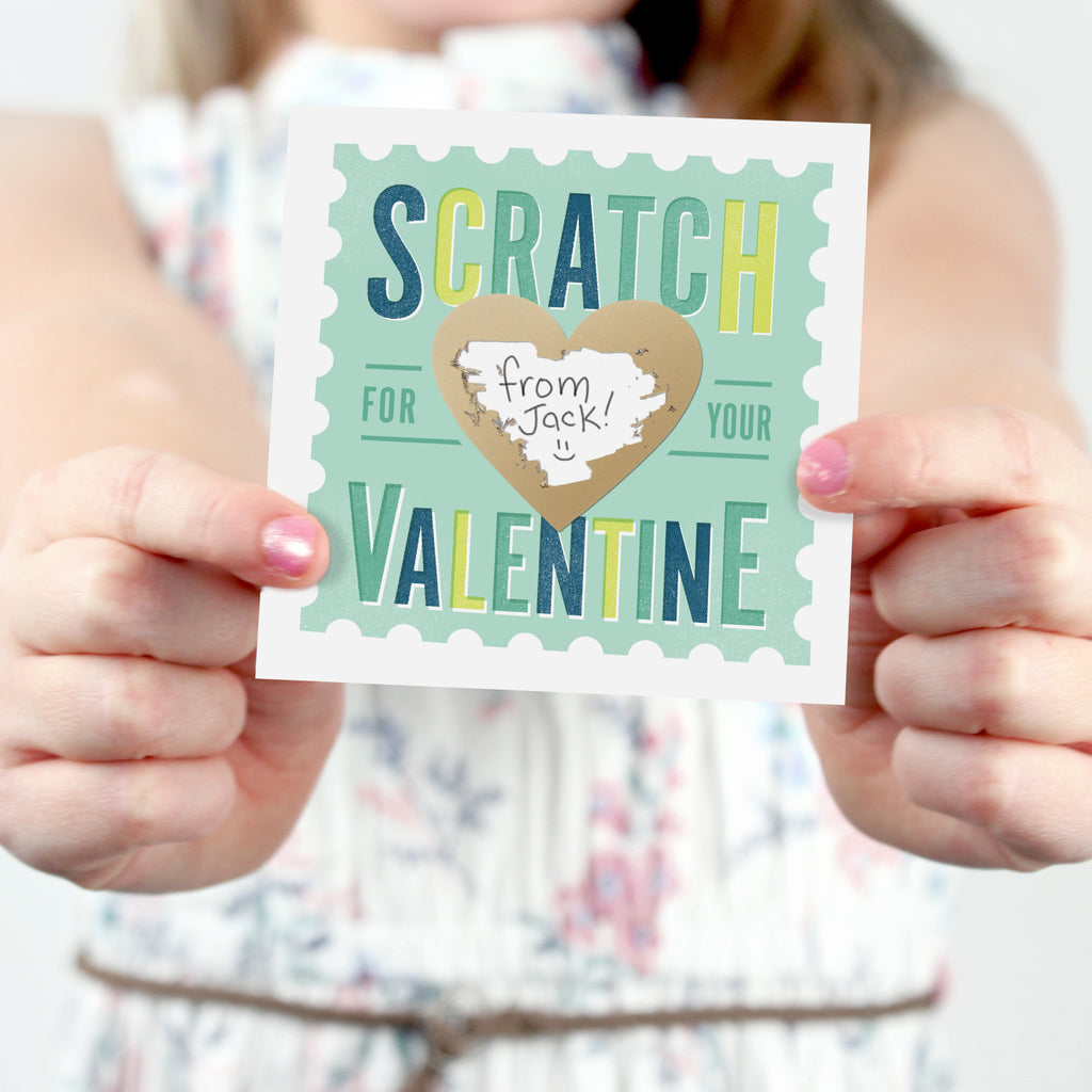 Scratch-off Stamp Valentines - Mint