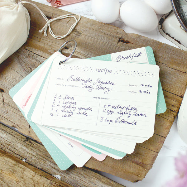 Recipe Ring Re-fill Cards