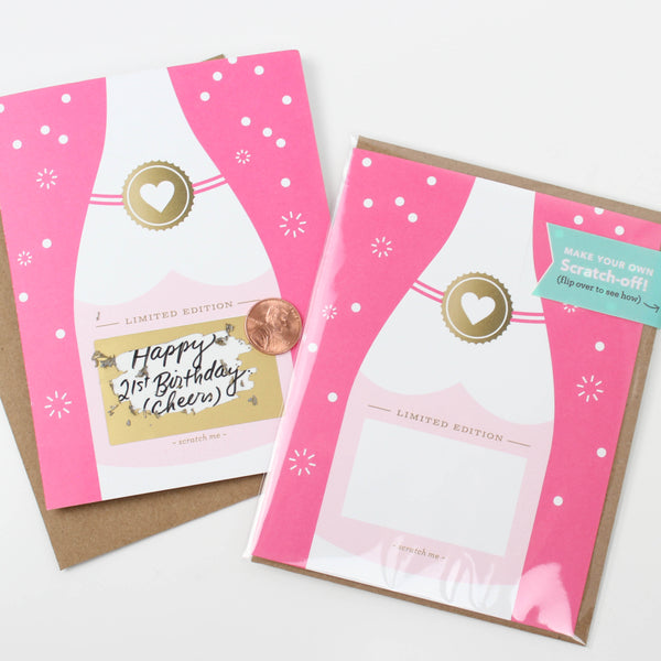 Fuchsia Bubbly Scratch-off Card