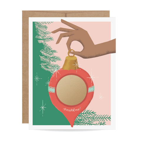 Ornament Scratch-off Card - Skin B
