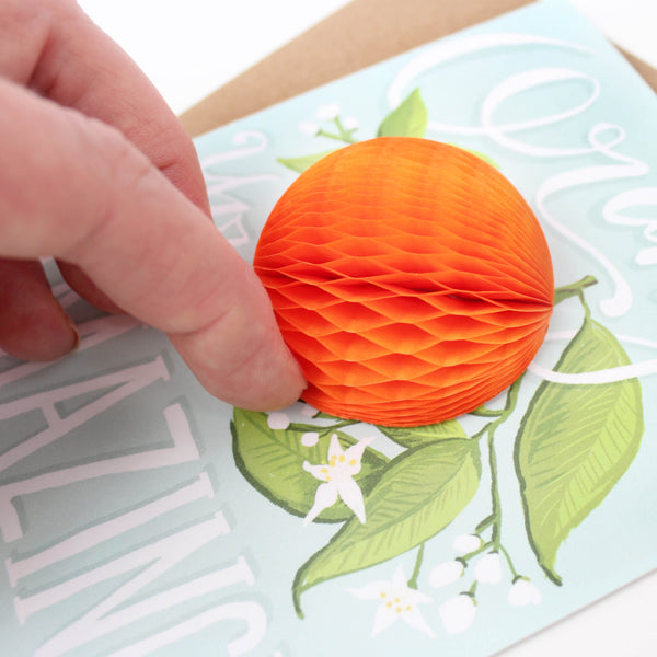 Orange Pop-up Card