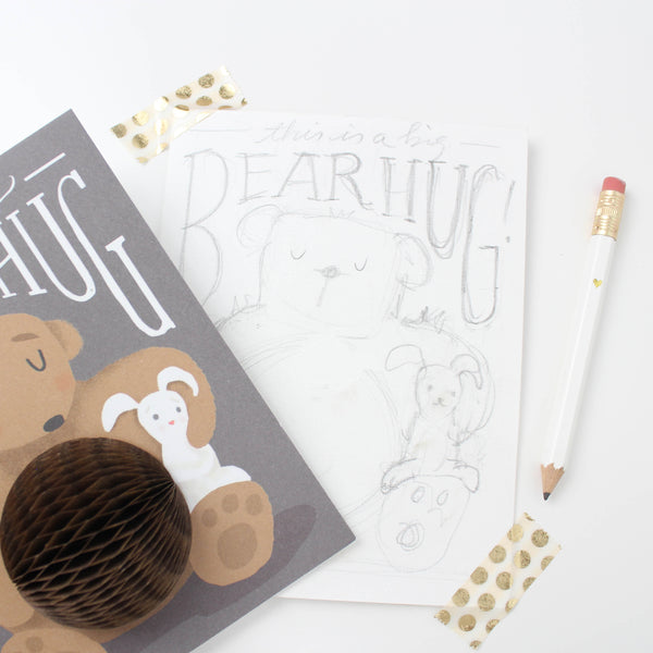 Bear Hug Pop-up Card