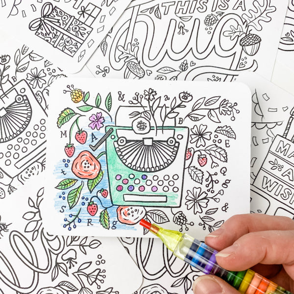 Color-In Postcard Kit