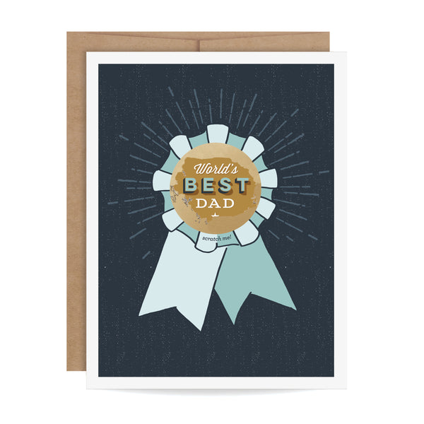 World's Best Dad Scratch-off Card
