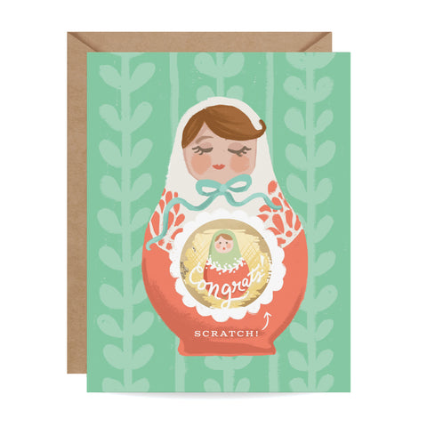 Nesting Doll Scratch-off Card
