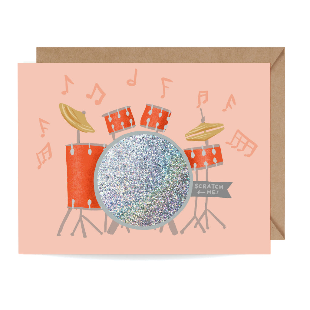 Heart Beats Drum Kit Scratch-off Card