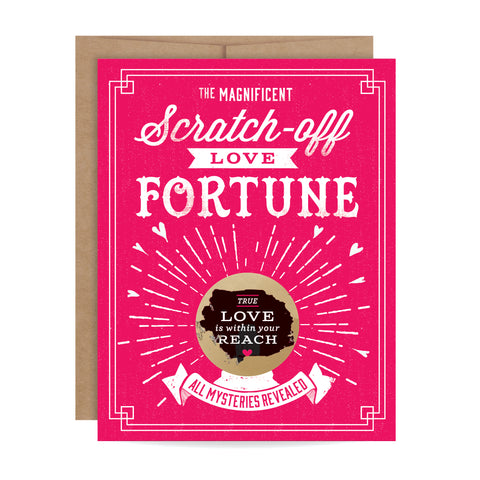 Love Fortune Scratch-off Card