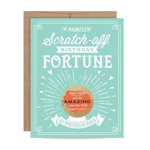 Birthday Fortune Scratch-off Card