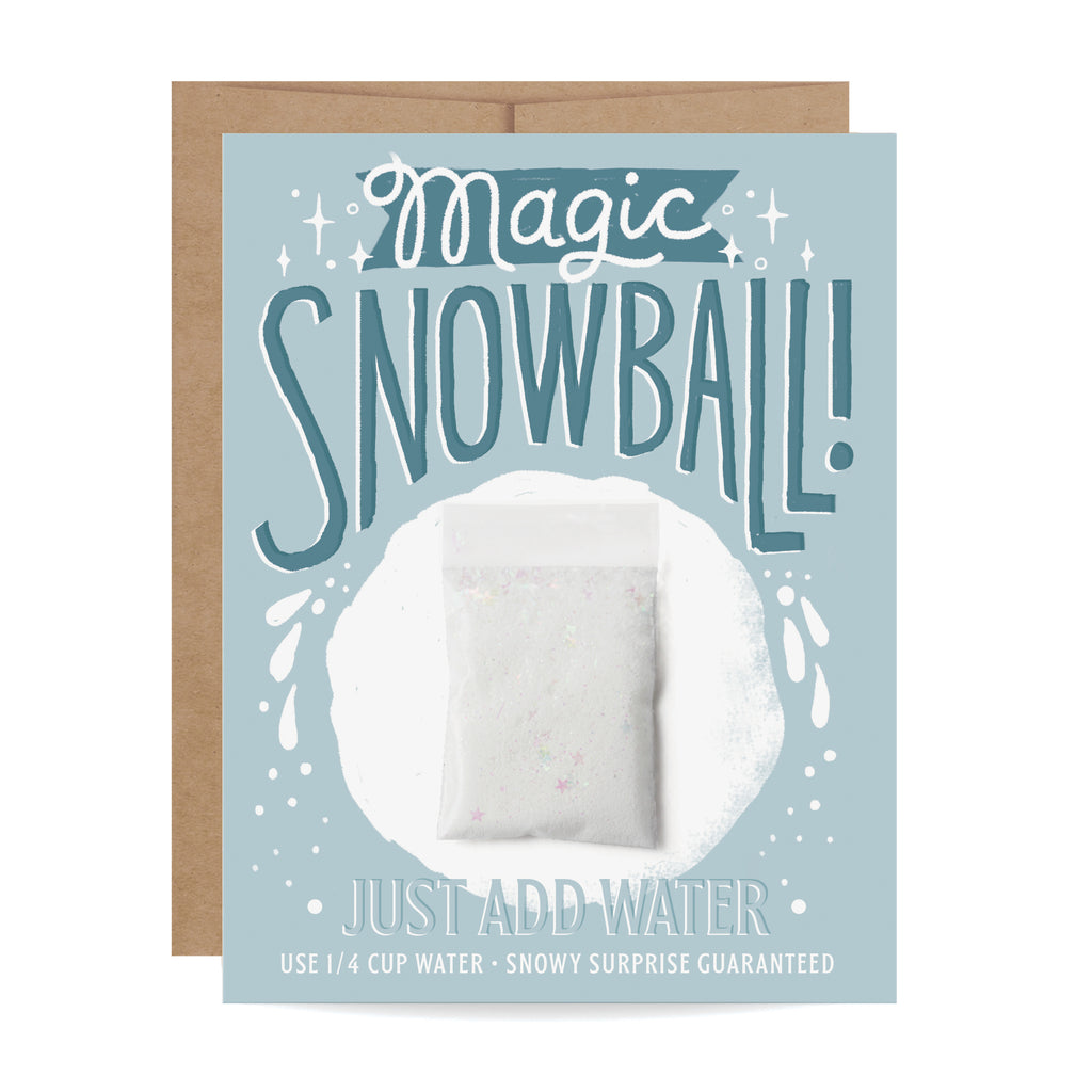 Magic Snowball Card