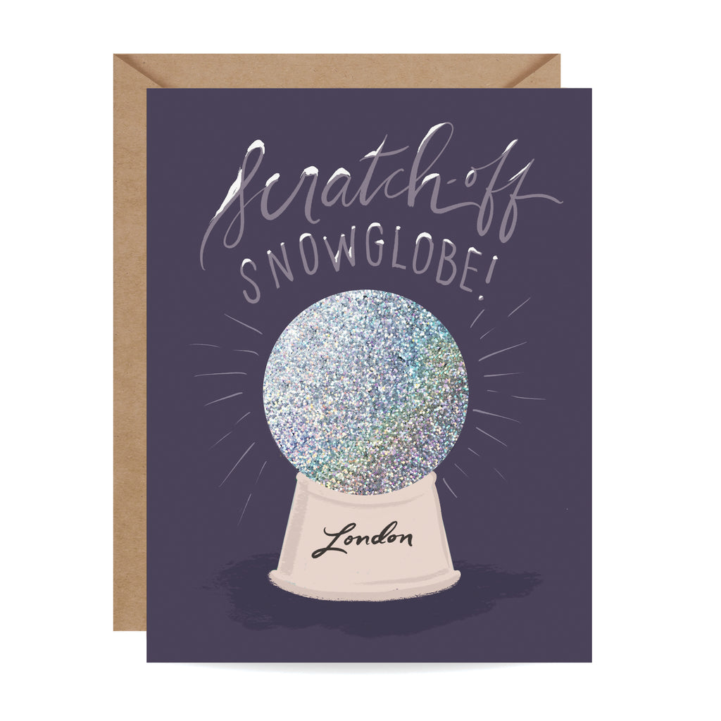 Scratch-off Snow Globe - London