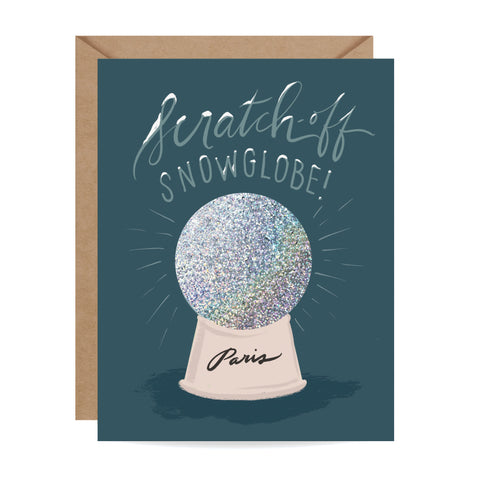 Scratch-off Snow Globe - Paris