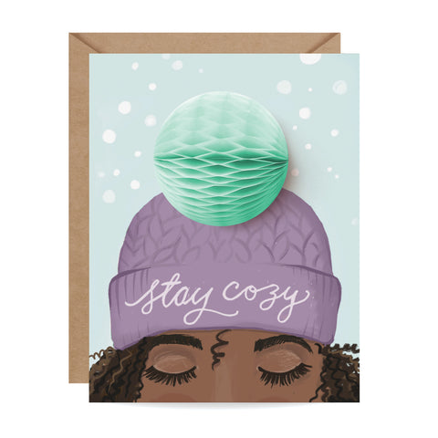 Purple Stay Cozy Pop-up