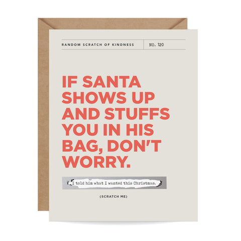Santa's Bag Scratch-off Card