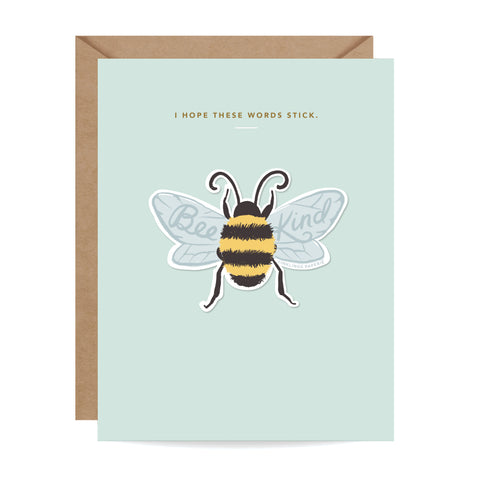 Bee Kind Sticker Card