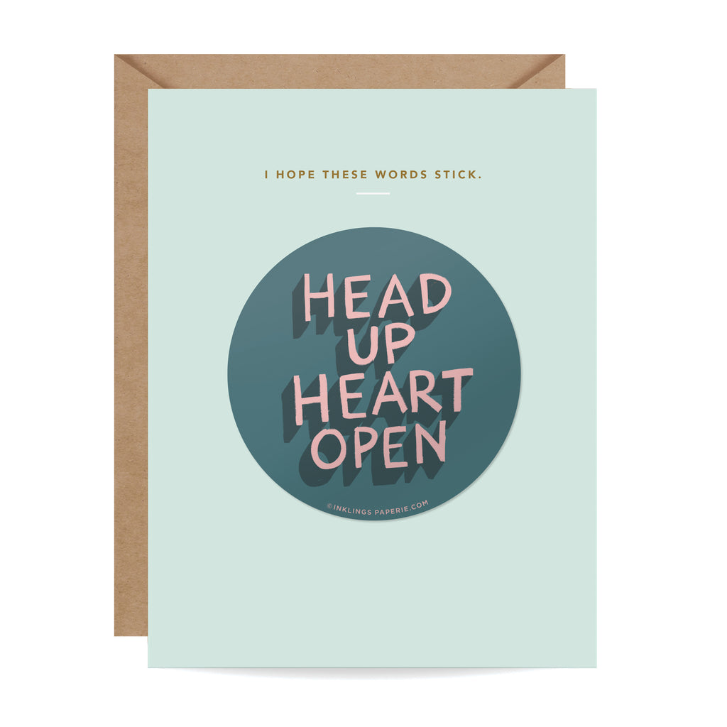 Head Up Sticker Card