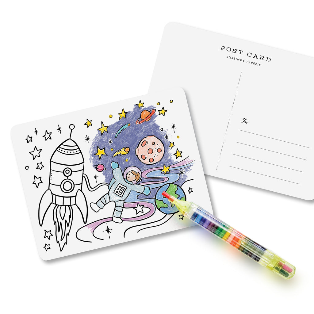 Kids Color-In Postcard Kit