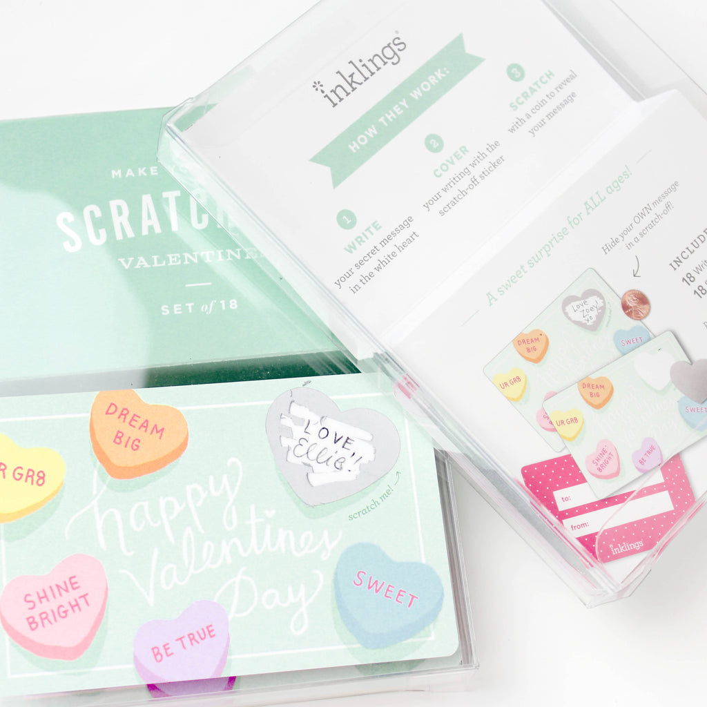 Scratch-off Sweetheart Valentines