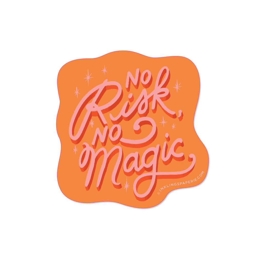 No Risk No Magic Vinyl Sticker