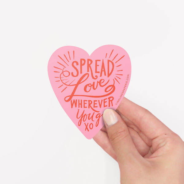 Spread Love Sticker Card