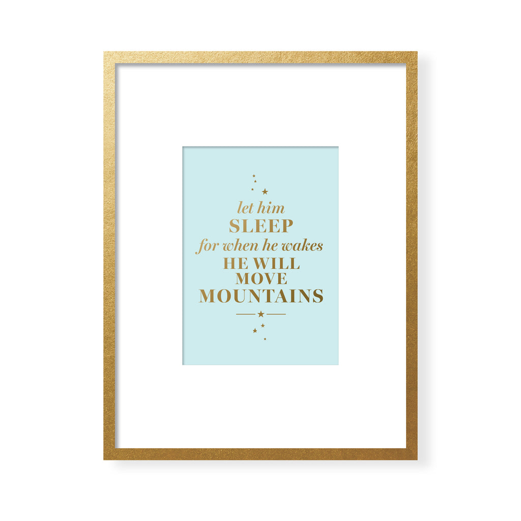 Let Him Sleep Art Card - Gold Foil
