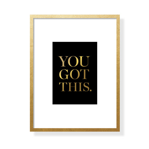 You Got This Art Card - Gold Foil