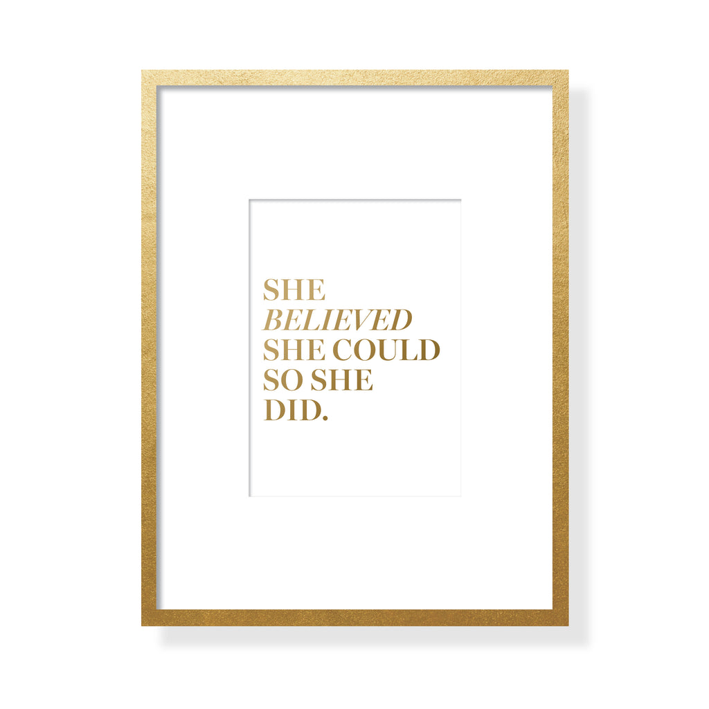 She Believed Art Card - Gold Foil