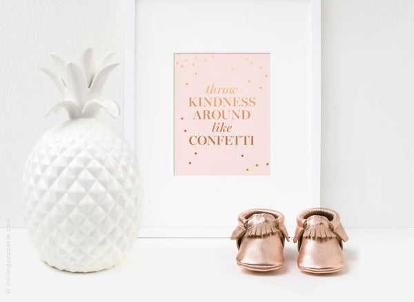 Throw Kindness Art Card - Copper Foil