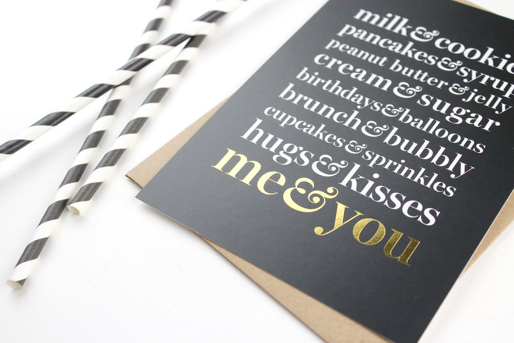 Me & You Art Card - Gold Foil