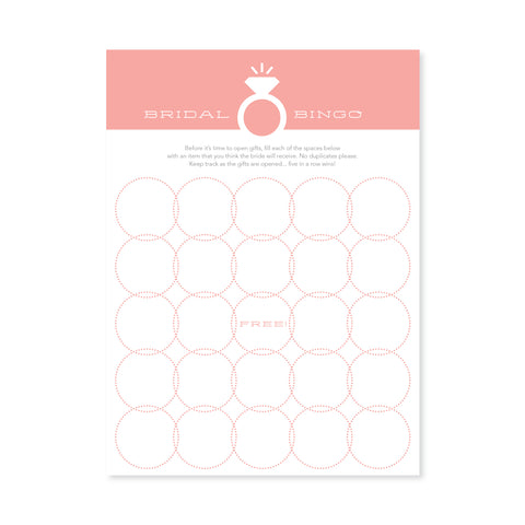Bridal Bingo - Blush Pink