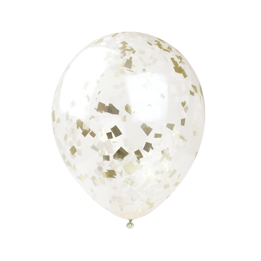 Buttercream & Gold Confetti Balloon Kit