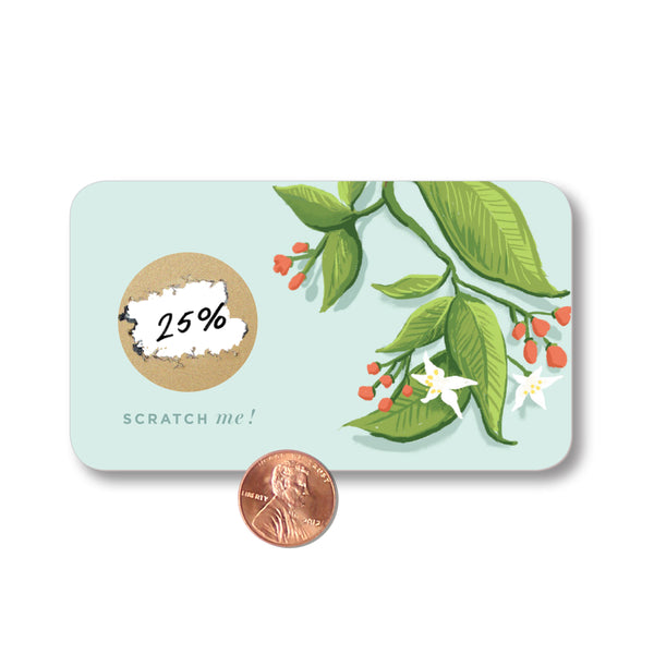Customer Scratch Cards - Blue Floral