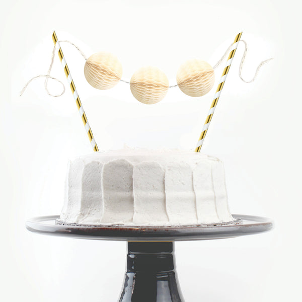 Buttercream & Gold Cake Topper
