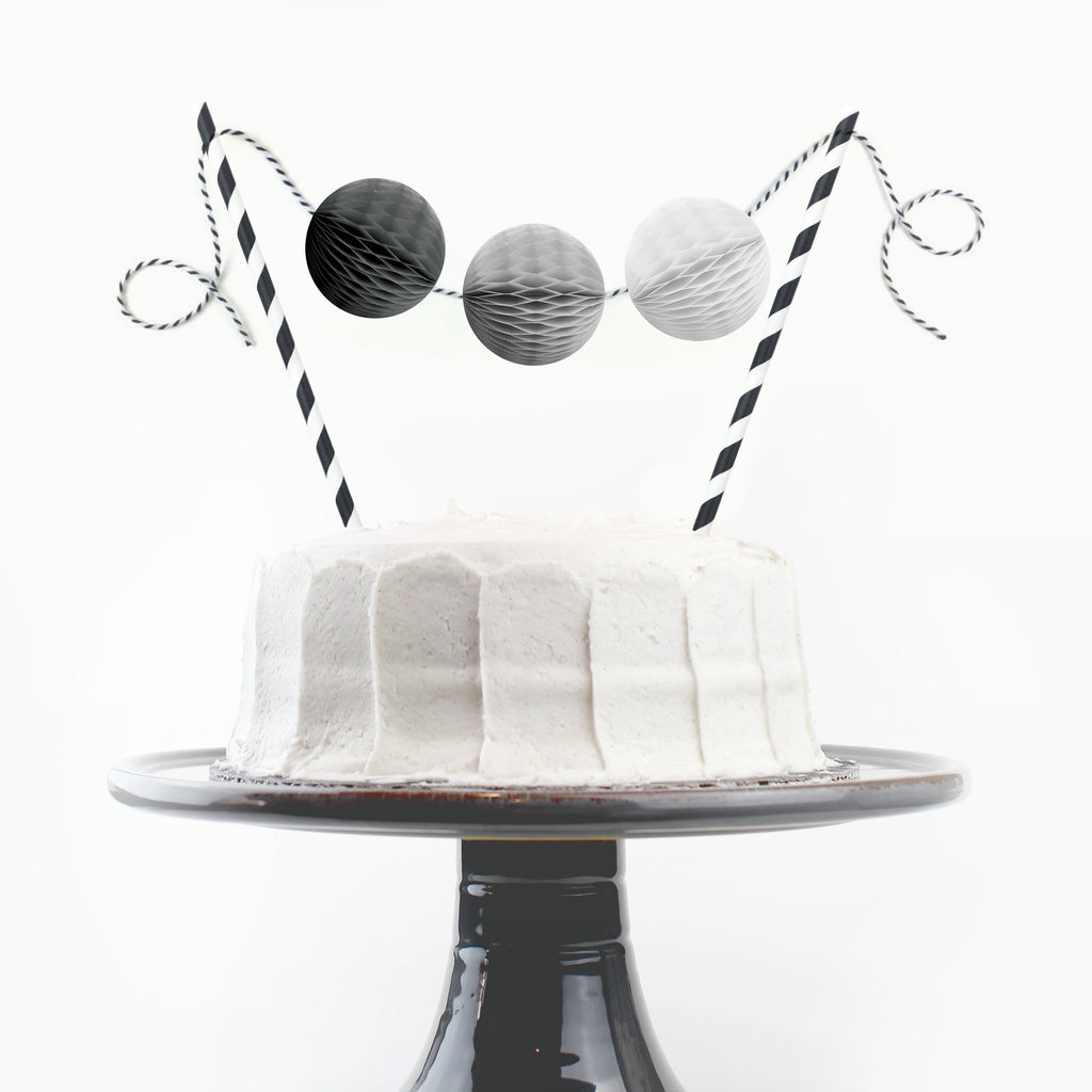 Fade to Black Cake Topper