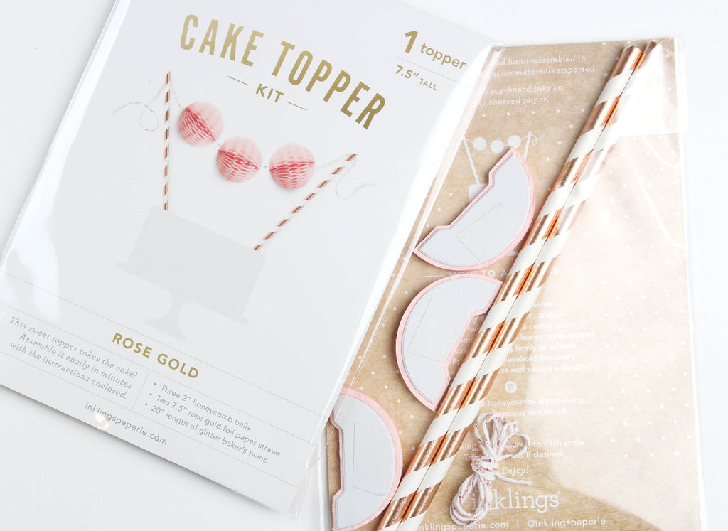 Rose Gold Cake Topper