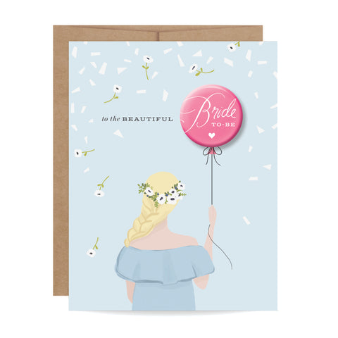 Greeting cards inklings paperie bride to be button card blonde m4hsunfo