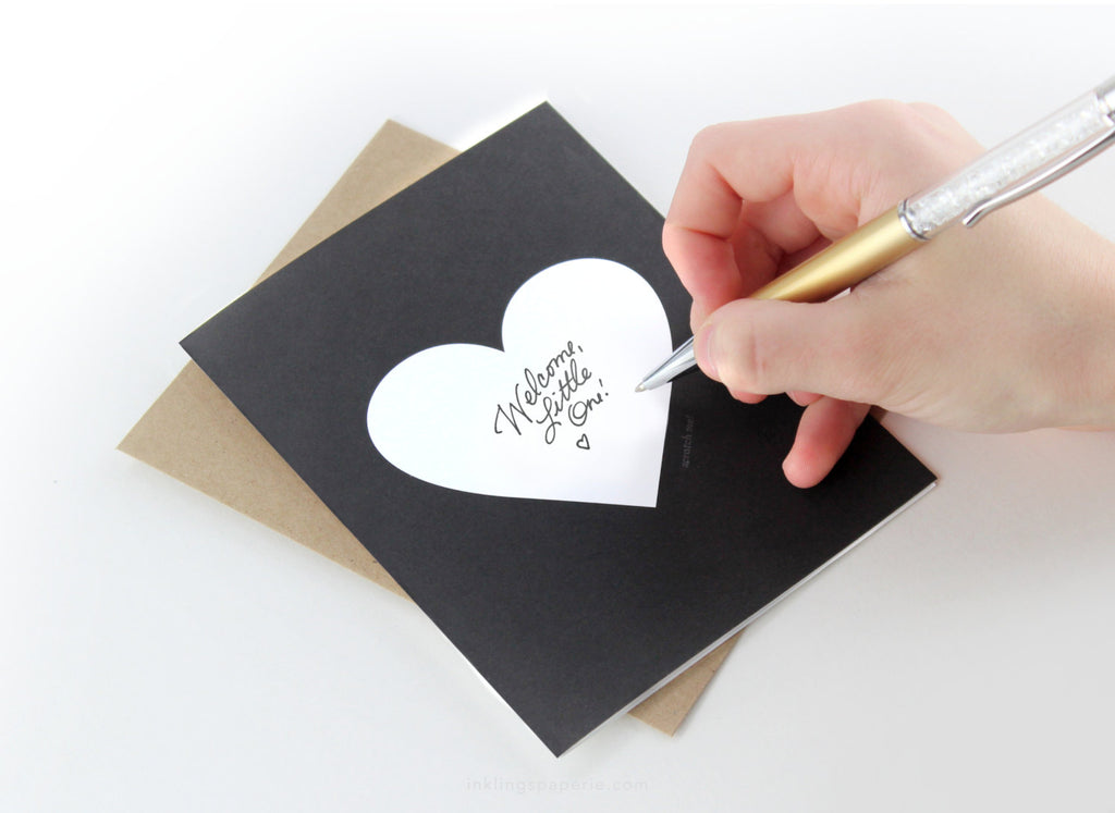 Black & Gold Heart Scratch-off Card