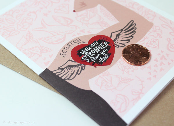 Pink Tattoo Scratch-off Card