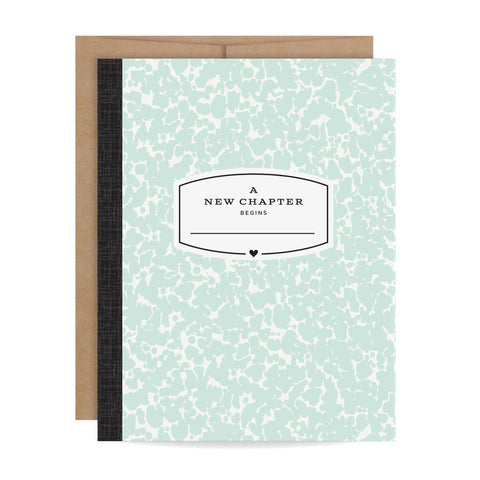 Mint Green Composition Card