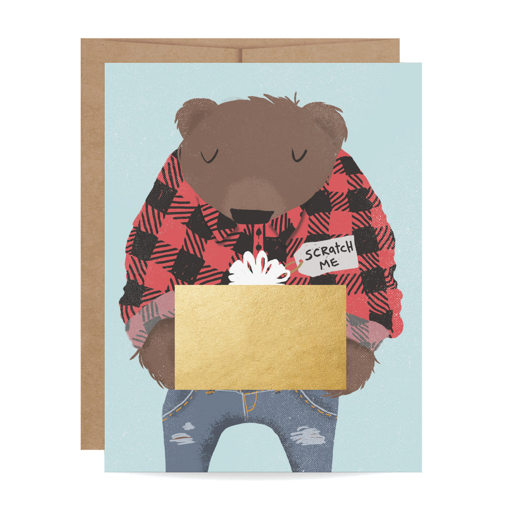 Bear Scratch-off Card
