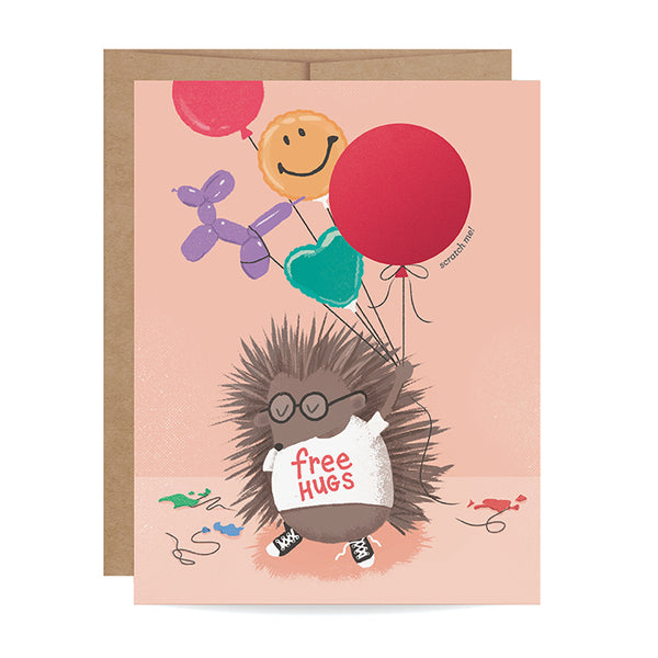 Porcupine Scratch-off Card