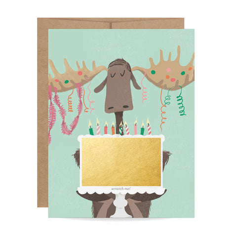 Moose Scratch-off Card