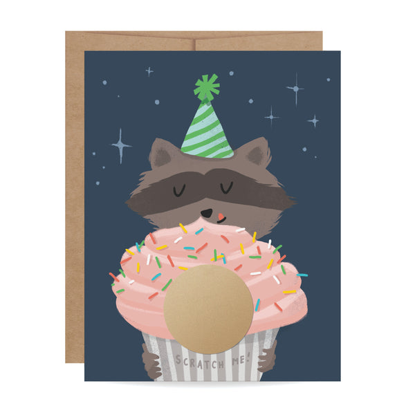 Raccoon Scratch-off Card