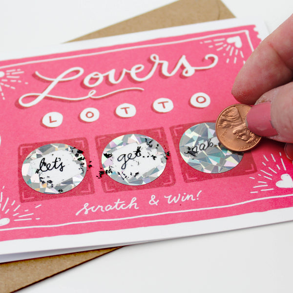 Lover's Lotto Scratch-off Card