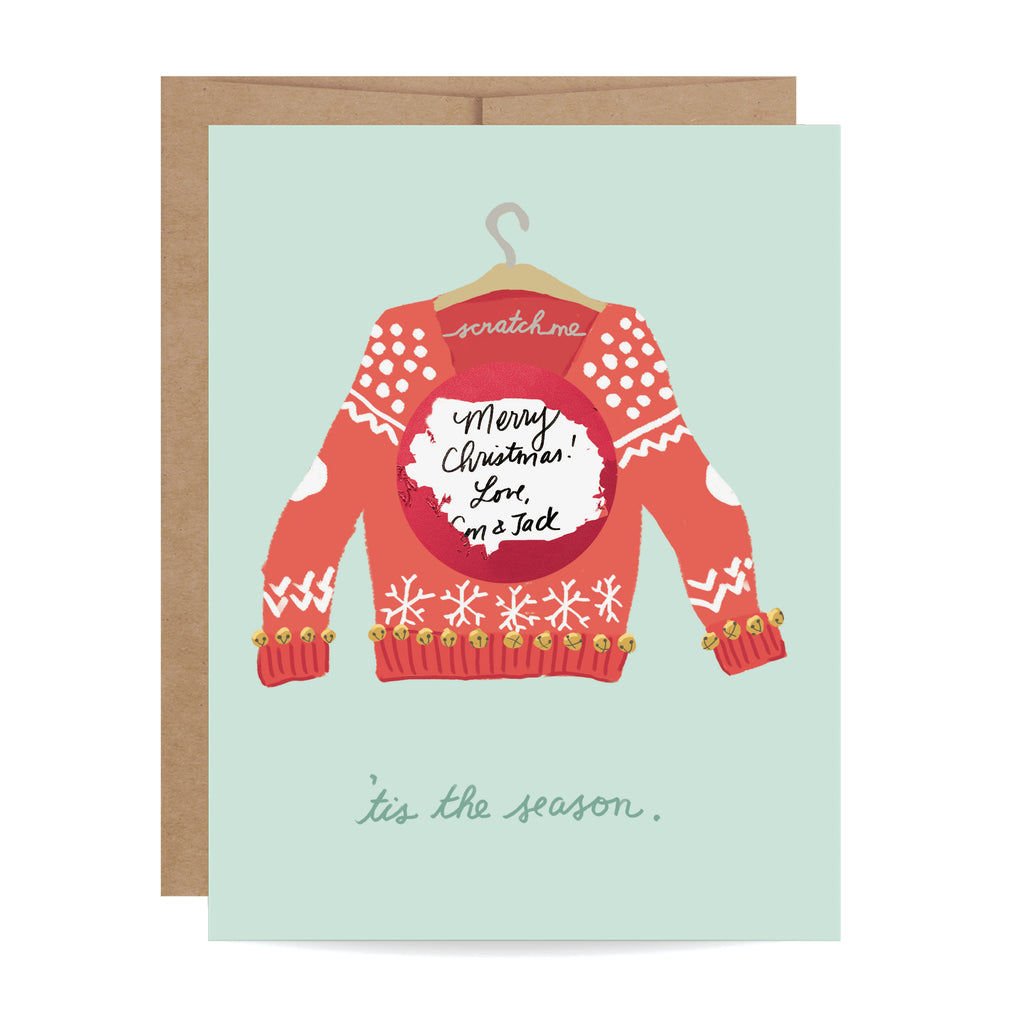 Ugly Sweater Scratch-off Card