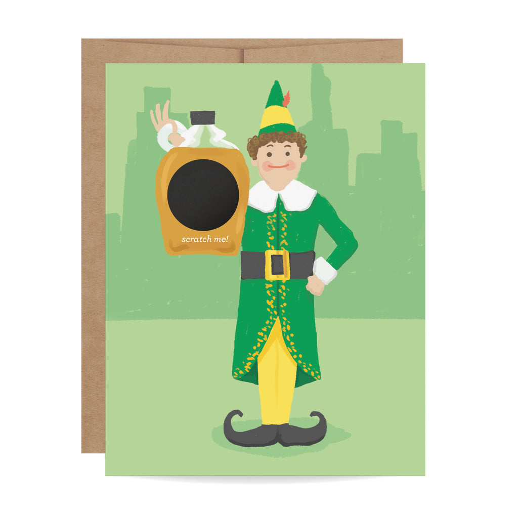 Buddy the Elf Scratch-off Card
