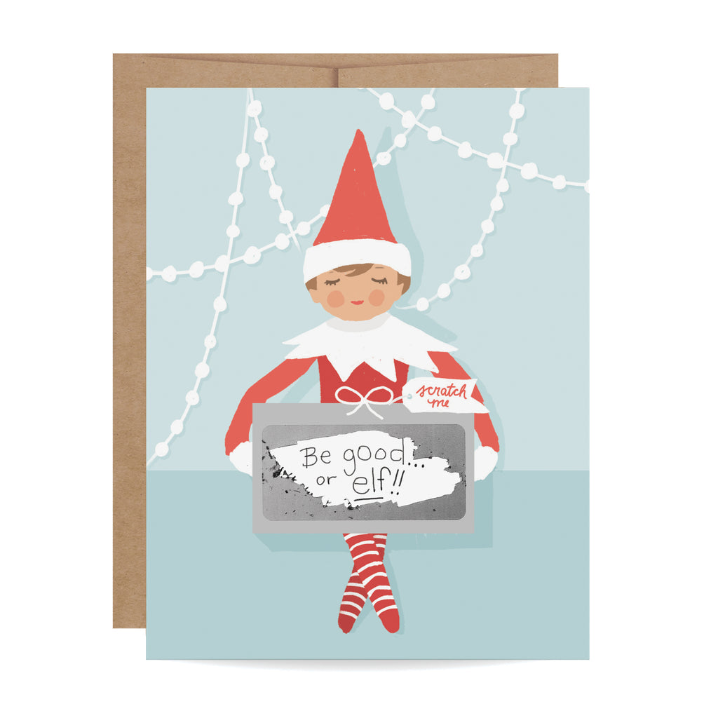 Elf Gift Scratch-off Card