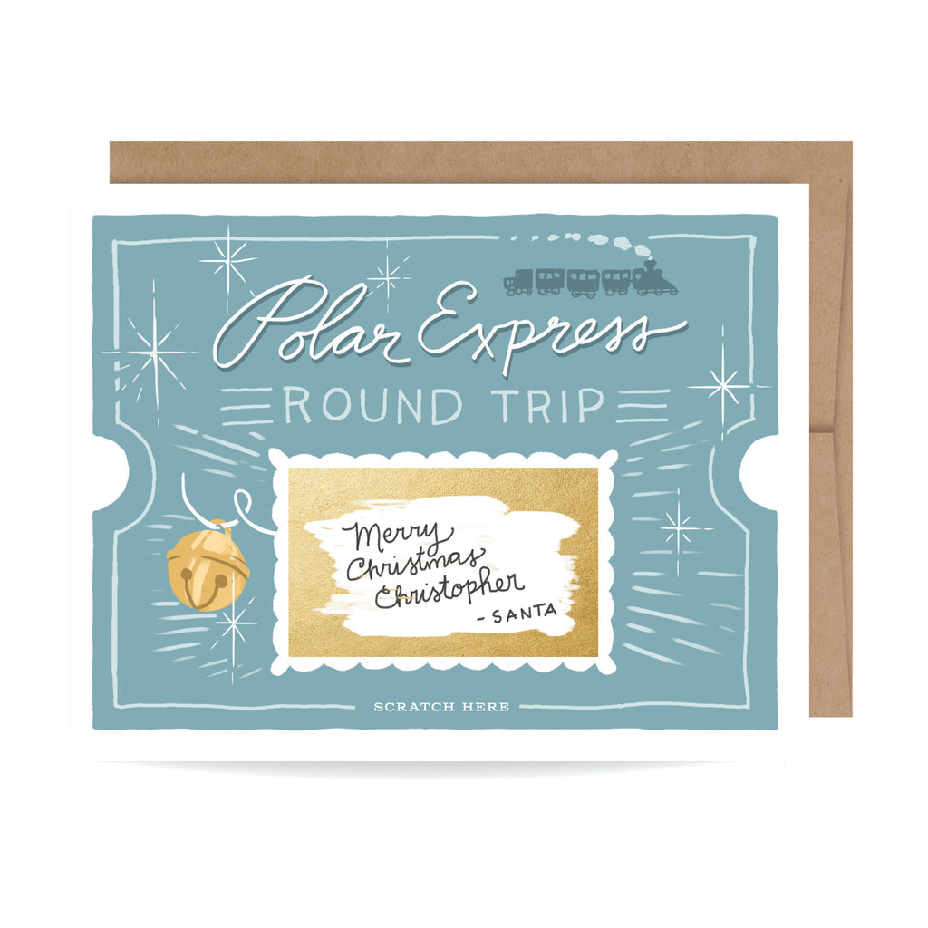 Polar Express Scratch-off Card