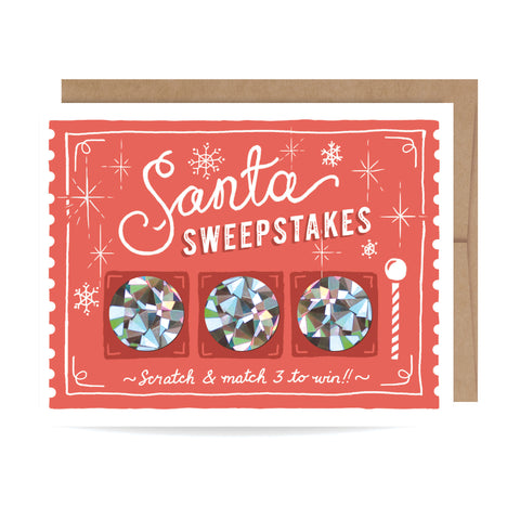 Santa Sweepstakes Scratch-off Card