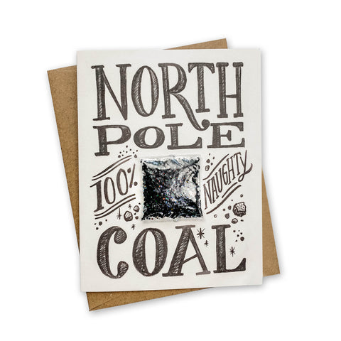 North Pole Coal Card