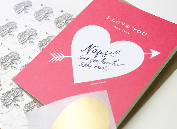 Love You More Than... Scratch-off Card
